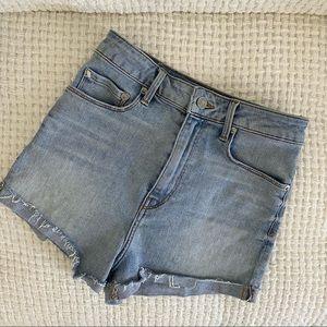 Aritzia Paradise Mine high waist denim shorts